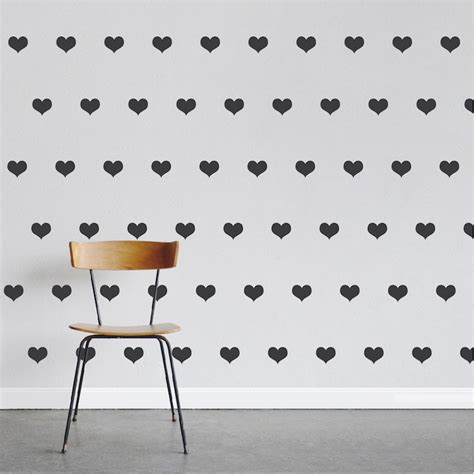 wall stickers hearts hearts wall decal stickers nursery hearts trendy wall