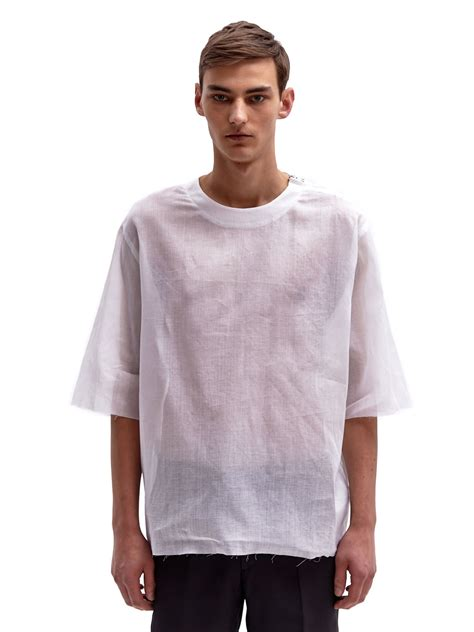 Oversized Tshirt lyst yang li mens oversized tshirt in white for
