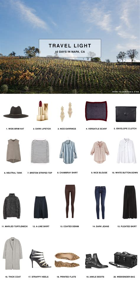8 Tips To Packing And Travelling Light by Pack For 10 Days In Napa California Hej Doll Simple