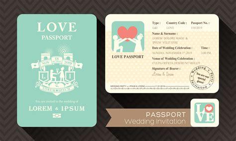 Hochzeitseinladung Passport by ゲストへの招待状をパスポート風にアレンジして結婚式にユーモアを