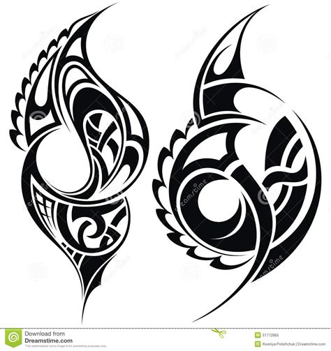 maori clipart maori styled pattern stock vector illustration of