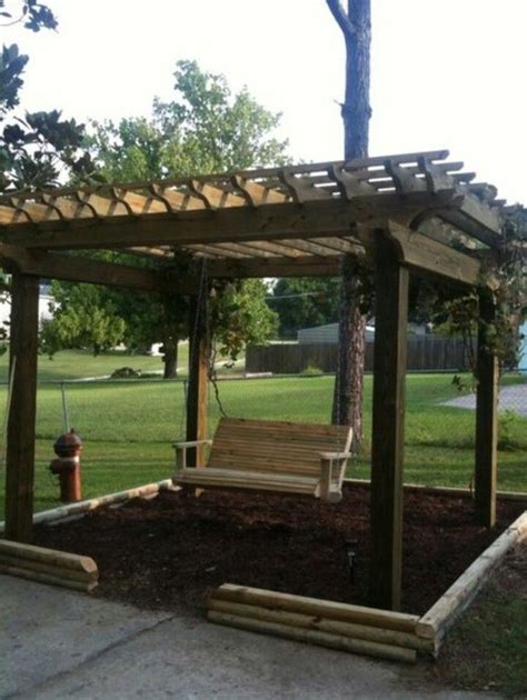 swing with pergola swing pergola gardening ideas pinterest