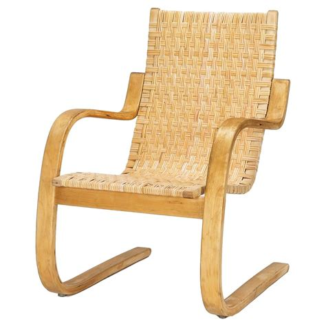 Century Plywood Alvar Aalto Cantilever Chair 406 By Artek In Birch And
