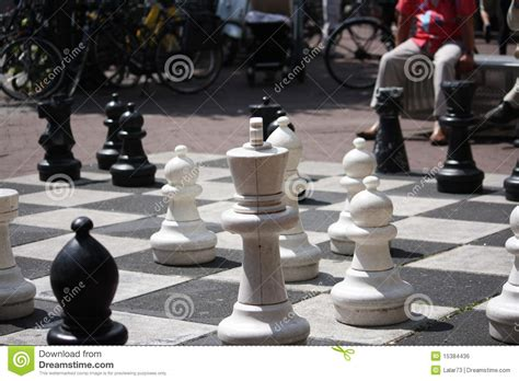life size chess life size chess royalty free stock image image 15384436