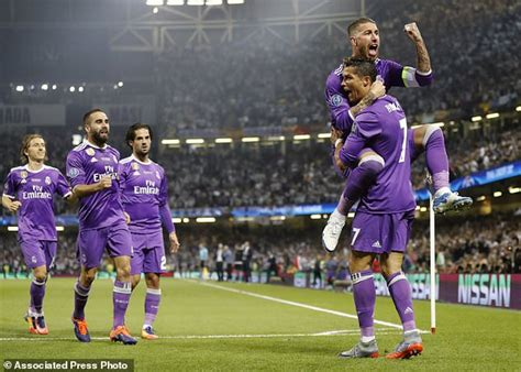 ronaldo goal juventus ronaldo helps real madrid become 1st team to retain cl title this is money