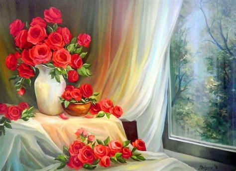 imagenes de paisajes rosas im 225 genes arte pinturas paisajes con flores pinturas