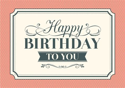 happy birthday vintage design personalized birthday cards free shipping international