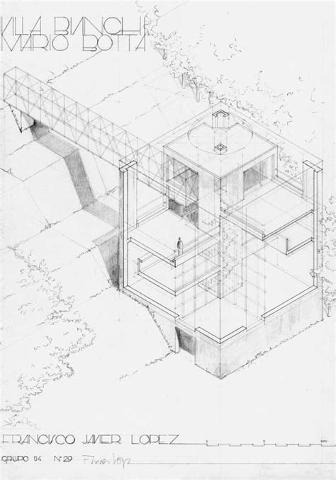 Studio C Sketches Of You by Mario Villas And Architectural Drawings On