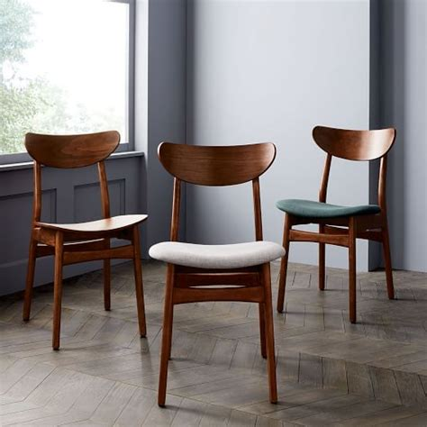 Cafe Dining Chairs Classic Caf 233 Upholstered Dining Chair Walnut West Elm