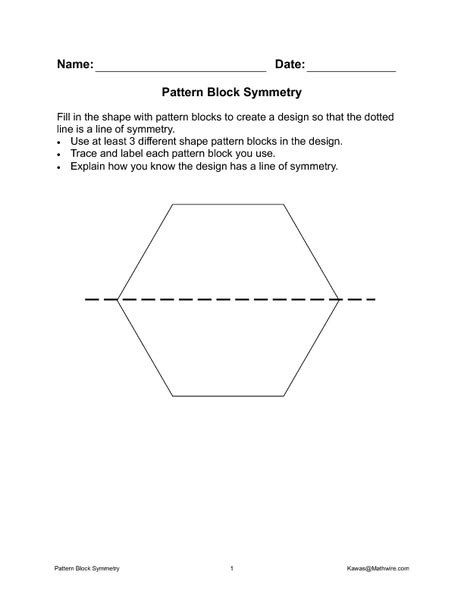 pattern block math worksheets pattern block worksheets 5th grade symmetry pattern