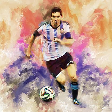 Football Artwork Messi 1 lionel messi 094c painting by gull g