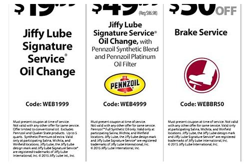 mark jacobson oil change coupon