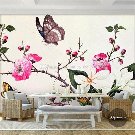 3d butterflies wall sticker living room bedroom background custom 3d wall murals flower butterfly photo wallpaper
