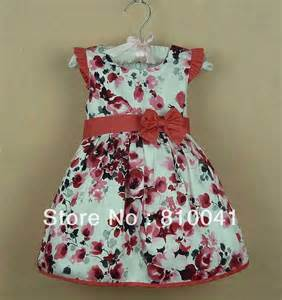 Lot new baby girls cotton casual floral sleeveless knee length dresses