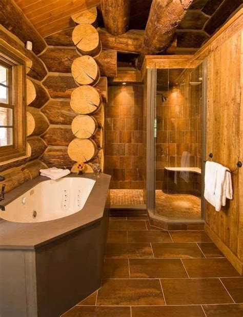 25 best ideas about log cabin bathrooms on