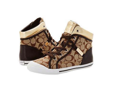 coach sneakers for coach shoes womens khaki signature freesia high top