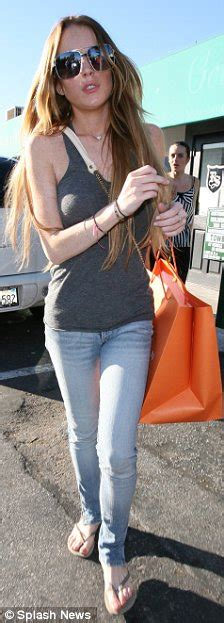 Lohan Backs Out Of by Superskinny Lohan Goes Out For Pizza And A Bagload Of