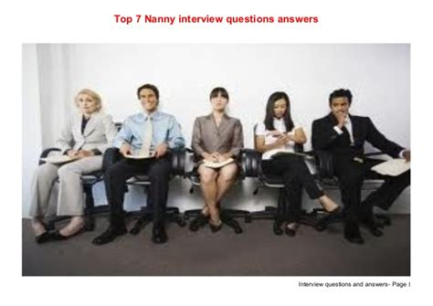 top 7 nanny questions answers