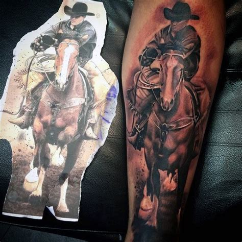 dead cowboy tattoo pictures to 90 cowboy tattoos for west designs