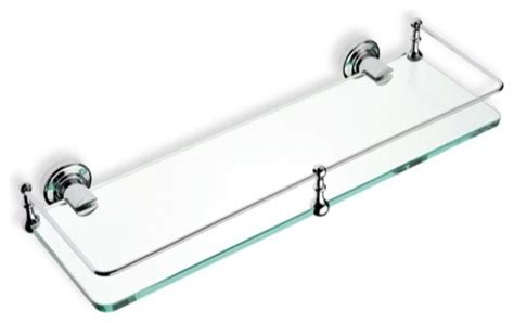 Chrome And Glass Bathroom Shelves Clear Glass Bathroom Shelf Chrome Contemporary Bathroom Cabinets And Shelves By Thebathoutlet