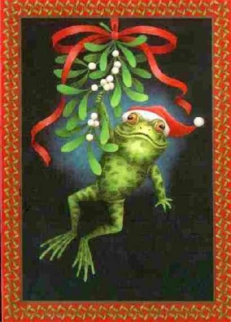 rwa picture collection lxxx frog postcards christmas frogs