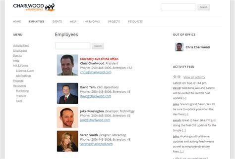 Atlanta Intranet Web Design Employee Website Template
