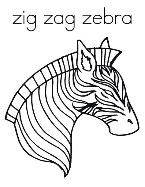 Zebra Face Coloring Page | free printable zebra coloring pages for kids