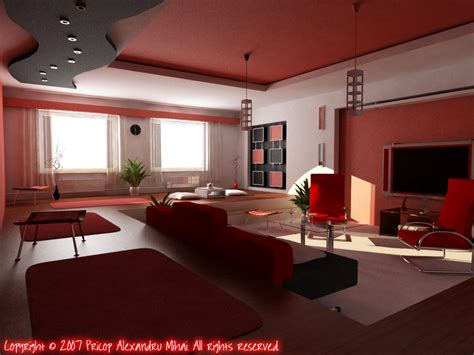 red black and white room black white red living room minimalist design decosee com