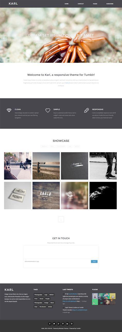 themes tumblr responsive karl premium responsive portfolio tumblr theme