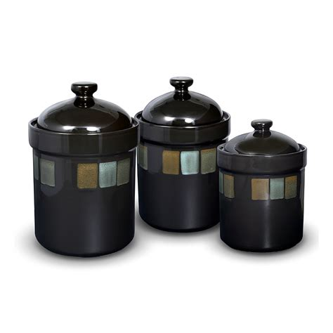 see selections of kitchen canisters and kitchen canister