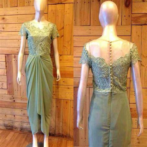 St Kebaya Brukat Cape Lace kebaya dress for my best friend wedding mint drapery
