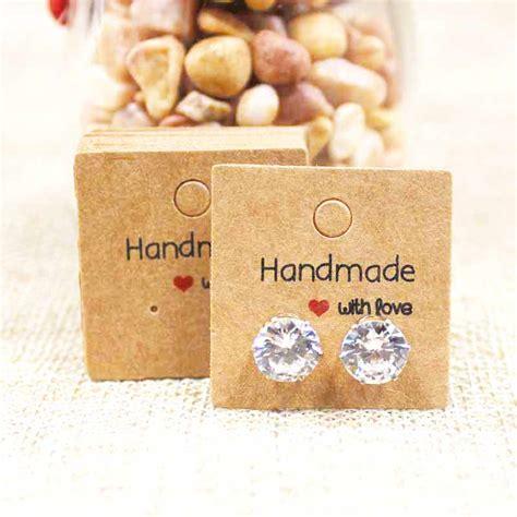 Handmade Earring Cards - handmade earring cards earring display cards modish