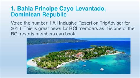 best rci resorts top all inclusive rci resorts 2016