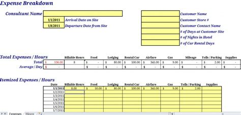 gas mileage expense report template 3 professional and