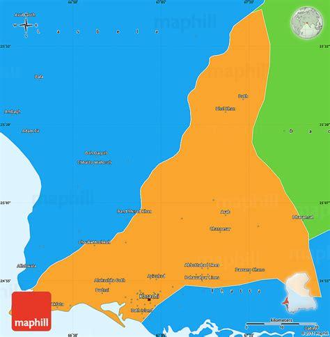 where is karachi on the world map political simple map of karachi