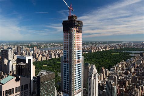 Penthouse Apartment Floor Plans by Construction On 432 Park Avenue Reaches 1000 Ft In New York