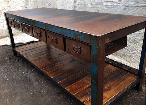 vintage work bench for sale the junk map edgy industrial furniture and vintage