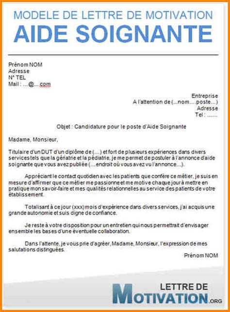 Lettre De Motivation Ecole Horlogerie Modele Lettre De Motivation Aide Soignante