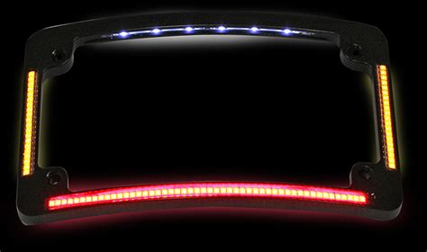 custom dynamics motorcycle lights custom dynamics black radius license plate frame led turn
