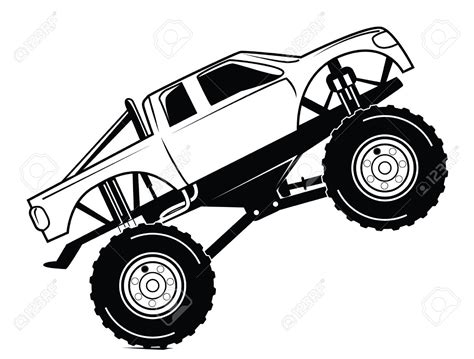 free monster truck videos monster truck clipart black and white www pixshark com