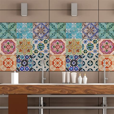 tile decals for kitchen backsplash portuguese tiles stickers maceira pack of 16 tiles