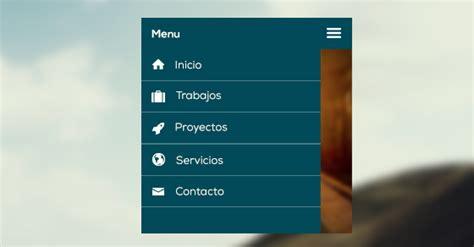 design menu responsive como hacer un men 250 de navegaci 243 n adaptable a m 243 viles