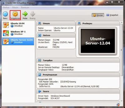 tutorial install ubuntu server 12 04 di virtualbox tutorial virtualbox part 2 installasi ubuntu server 12 04