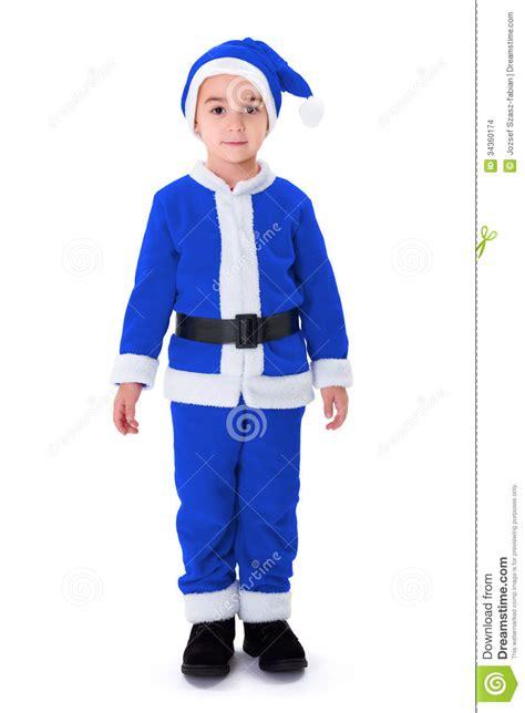 imagenes santa claus azul ni 241 o peque 241 o en el traje azul de santa claus imagenes de