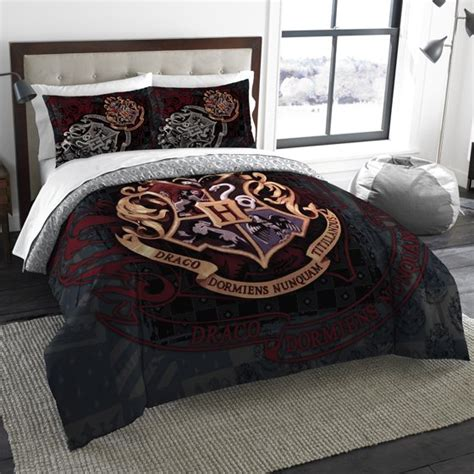 harry potter school motto bedding comforter set comes with comforter and 2 shams