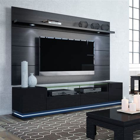 entertainment center with led lights manhattan comfort 2 1755382353 vanderbilt tv stand and