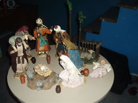 kirkland signature nativity set hand painted fabric mache