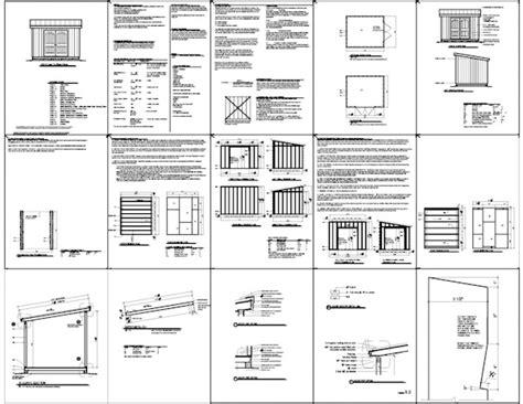 lean  shed plans     build diy