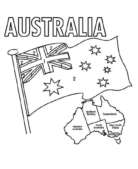 the australian flag flying day coloring pages c