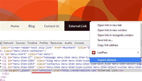 wordpress tutorial navigation menu add nofollow links in wordpress navigation menus agencia